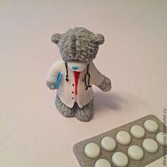 """Мыло ручной работы. Ярмарка Мастеров - ручная работа. Купить сувенирное мыло 3 d """"  Мишка  врач"""". Handmade. 3 D"""