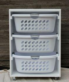 DIY Laundry Room Storage - Mobile Station