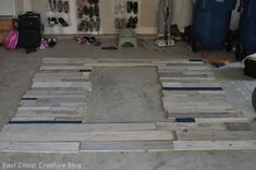 Pallet Possibilities {How to Build a Wooden Pallet Wall} - East Coast Creative Blog