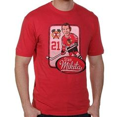 Red Jacket Chicago Blackhawks Stan Mikita Alumni Hyperbole Vintage Player T-Shirt