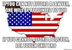 American logic. Its not really humorous. But I'm sarcastic like that. I think its bat sh** funny!