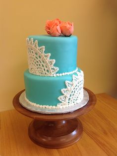 Lace Wedding Cake By Sarau0027s Sweet Bakery Grand Rapids MI