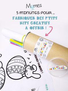 """Les loisirs créatifs ont la côte (et nous, ça nous rend super heureux !). Les box créatives pour enfants fleurissent un peu partout. Nous vous proposons de créer votre propre petite box créative à offrir ! Un kit d'activités qui se fabrique en 5 minutes chrono ! A décliner en kit de coloriage ou en kit de DIY à partir d'un simple """"tube de chips"""" !"""