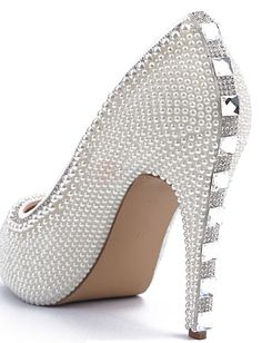 ❀ Pearls Round Toe High Heel Banquet Shoes | Riccol ❤