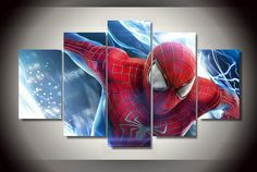 Style Your Home Today With This Amazing 5 Panel The amazing Spider Man Framed Wall Canvas Art For $44.00  Discover more canvas selection here http://www.octotreasures.com  If you want to create a customized canvas by printing your own pictures or photos, please contact us.