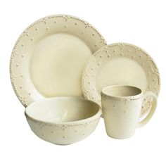 16Piece Genevieve Dinnerware, at Jossand Main -I like to use white or ivory, like a canvas for the food.