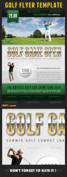 Golf Tournament Flyer Bundle Adobe indesign, Adobe and Fonts - golf tournament flyer template