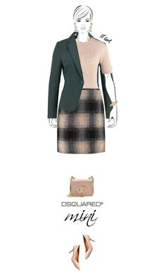 """""""Office outfit: Nude - Green"""" by downtownblues ❤ liked on Polyvore featuring Dorothy Perkins, Tory Burch, Dsquared2, Chanel and Burberry"""