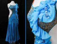 Turquoise Smooth with Organza Ruffle