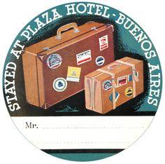 SAN JUAN PUERTO RICO HOTEL PIERRE VINTAGE LUGGAGE LABEL