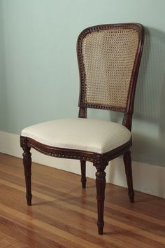 Louis XVI Cane Back Chair Cane Back Chairs, Louis Xvi, Dining Chairs, Inspiration, Furniture, Home Decor, Biblical Inspiration, Decoration Home, Room Decor