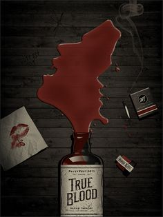 True Blood - 18″x24″ three color screen print by DKNG (Dan Kuhlken & Nathan Goldman) | $40.00 at store.dkngstudios.com/product/unchain-yourself