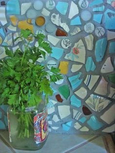 broken plate mosaic
