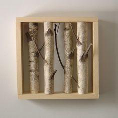 Birch tree wall art