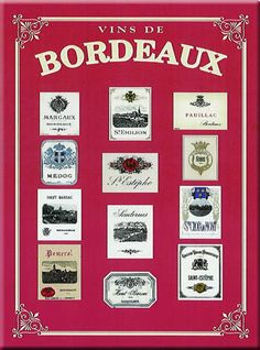 Some Bordeaux wine labels