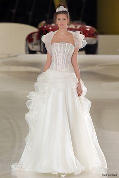 eme di eme wedding dresses 2014 bridal bruges strapless ball gown ruffle bolero