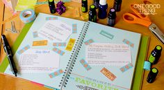Super cute essential-oil recipe cards to print out and save...in your EO Journal. How-to included.