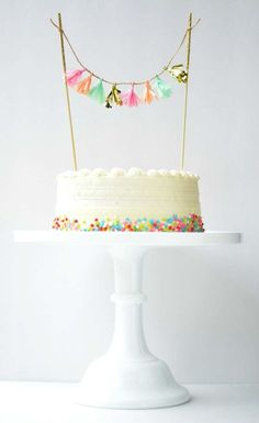 Super cute tassel topper by Homemadexojules | 10 Birthday Cake Toppers ~ Tinyme Blog