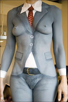sweetsurrenders:  mtlamoureuse:  There's the literal in body painting… it's well suited to tromp l'oeil. wankinhank:  (via trampling, realprincess1-deactivated2010102)