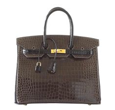 5c03307b1eb3 Hermès Birkin 35 Bi-Color Crocodile Special Order Bag