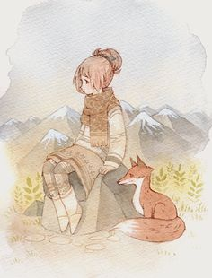 Mountain girl ✿ First of a small series of character portraits I want to do :o)