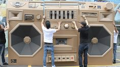 Your Next House Party Needs This Giant Car-Powered Cardboard Boombox | Gizmodo Australia