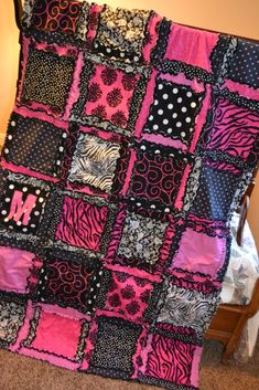 A Vision to Remember All Things Handmade Blog: Zebra Rag Quilts