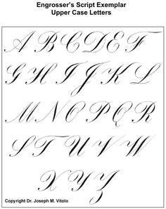 Script in the Copperplate Style: Engrosser's Script   IAMPETH site