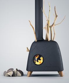 I'll have the pellet stove that looks like a gray tumble dryer with random horns, thanks. Pellet Burner, Wood Pellet Stoves, Wood Burner, Home Fireplace, Modern Fireplace, Fireplace Design, Fireplaces, Multi Fuel Stove, Cooking Stove