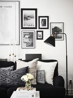 A Swedish home with dramatic black accents #followback #nails #nailart
