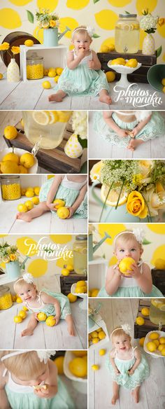 Absolutely love this lemon cake smash! The set up is perfect and I adore the colors.