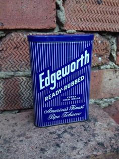 Rare-Edgeworth-Advertising-Pipe-Ready-Rubbed-Tobacco-Vertical-Tin-Larus-Bro