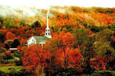 Autumn, Stowe, Vermont  photo via trisha