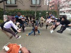 Makankosappo, fotos de colegialas japonesas posando con superpoderes