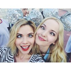 Dove Cameron and Grace Phipps at Coolest Summer Ever May 22,2015