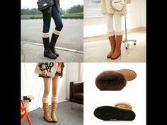 ซูมรีวิวเน้นรองเท้าบูทส้นเตี้ยกันหนาวแฟชั่นเกาหลีขนนุ่มพรีออเดอร์RB2262 - YouTube