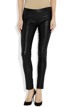 The Row | Moto stretch-leather leggings-style pants | NET-A-PORTER.COM