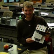PLC Trainer winner Rex Barbour at our St. Louis seminar (Won $289). You can win this trainer too, see http://bin95.com/free-engineering-software.htm