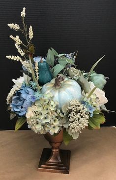 Tall Gilded Blues Arrangement by Andrea