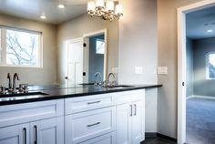 His and hers master sinks // Design by 303 Development Sink Design, Sinks, Double Vanity, Custom Homes, Denver, Utility Room Sinks, Sink Tops, Double Sink Vanity, Sink