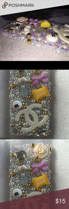 Purple Reign 3D iPod 5th Gen Bling Cabochon Case 3D Purple/Yellow/Gold Cabochon Kawaii Bling iPod 5th Generation Hard Case Super cute embellishments. Be one of a kind with this phone case. Lavish design. One of a Kind!! 🍦💅🏽👄👀💋👑👛👒🕶🐵🍀❄️🍩💎💎  Handmade from durable high quality plastic materials, luxury crystal rhinestone and durable glue. Won't fall off with proper care! Colors same as photo  CHECK OUT THE OTHER SPARKLY THINGS IN MY SHOP NO INTERNATIONAL ORDERS PLEASE & THANK YOU…