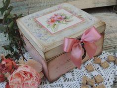 короб для пакетиков чая Розовый шиповник - розовый,короб для чая,короб для хранения