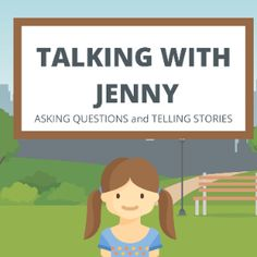 Boom Cards - Talking with Jenny: Asking Questions and Telling Stories Questions To Ask, This Or That Questions, Personal Narratives, Looking For People, Telling Stories, Speech Therapy, Special Education, To Tell, Author