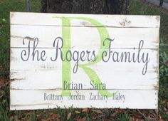 Monogram sign Family name Personalized by RescuedandRepurposed