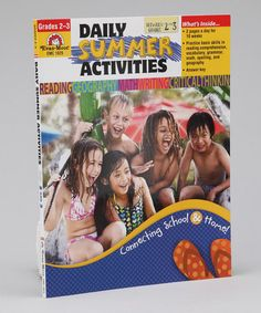 Take a look at this Daily Summer Activities Paperback - Prep for Third Grade by Evan-Moor Educational Publishers on #zulily today!