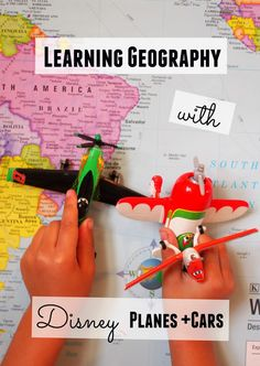 How to use Disney Planes and Cars movies to teach preschoolers about geography and maps
