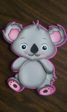 Amigos de la seva koala Xmas Crafts, Paper Crafts, Valentines Sweets, Balloon Decorations, Origami, Hello Kitty, Balloons, Cute Animals, Baby Shower