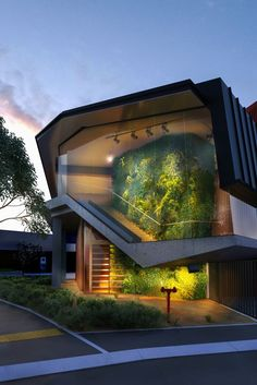 Home Decorators Hamilton Vanity Architecture Design, Green Architecture, Amazing Architecture, 3d Interior Design, Exterior Design, Villa Design, House Design, 3d Architectural Visualization, Architecture Visualization