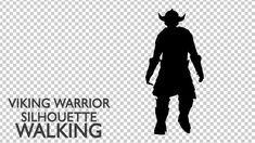 Viking Warrior Silhouette Walking