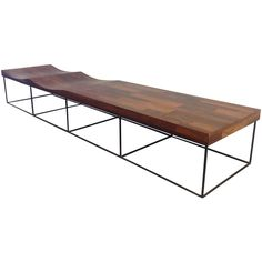 Parquet Jacaranda Bench by Jorge Zalszupin | From a unique collection of antique and modern benches at http://www.1stdibs.com/furniture/seating/benches/